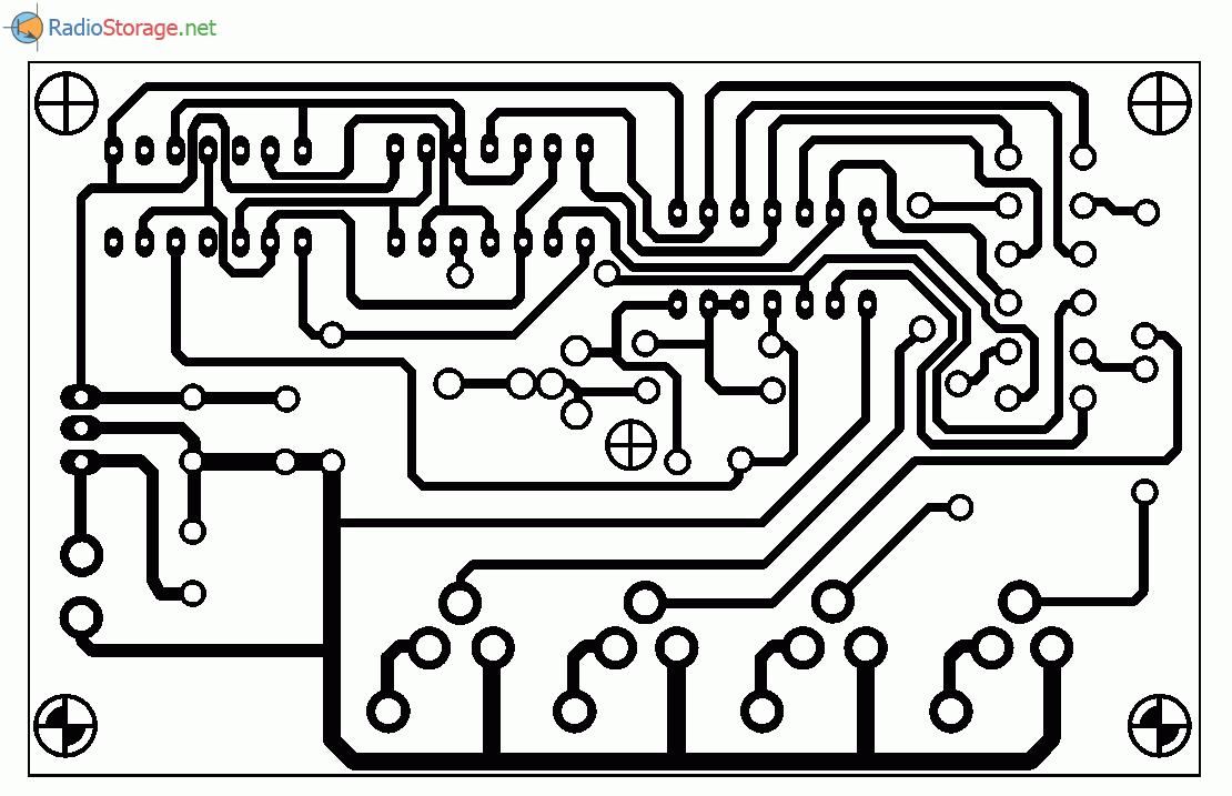 Устройство для подсветки рекламных вывесок, схема