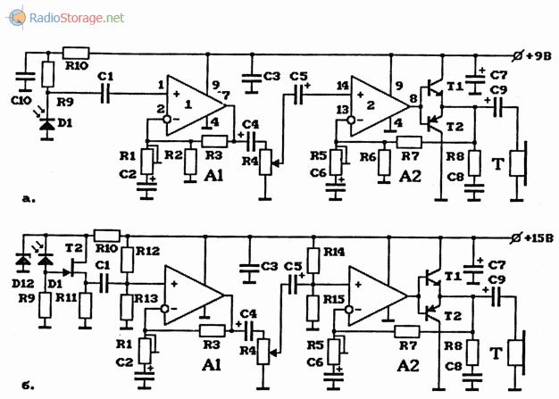 Схемы оптических приемников на ИС К548УН1А