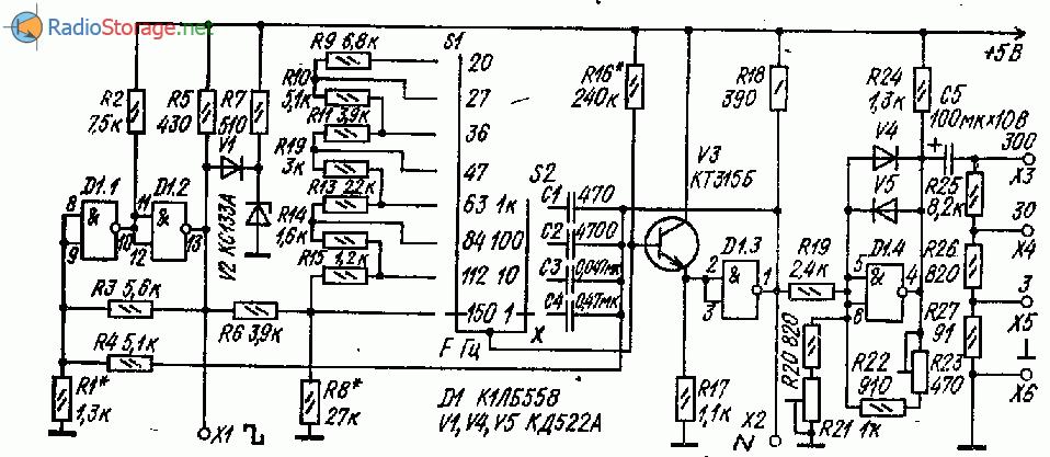 Функциональный генератор на микросхеме К1ЛБ558