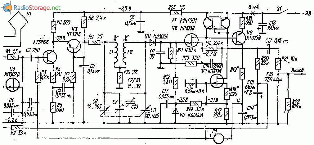 Высококачественный транзисторный AM тюнер СВ диапазона