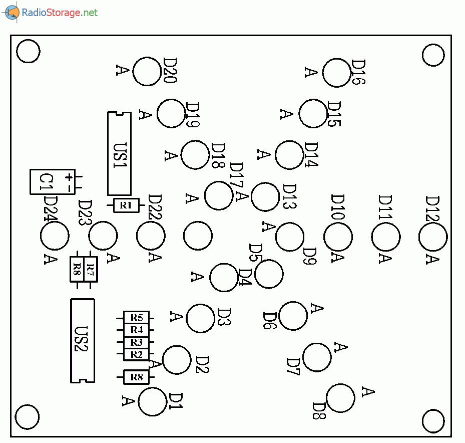 Звездные лучики на светодиодах, схема