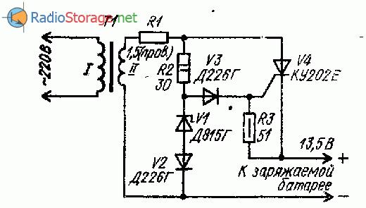 Тиристорное зарядное устройство на КУ202Е