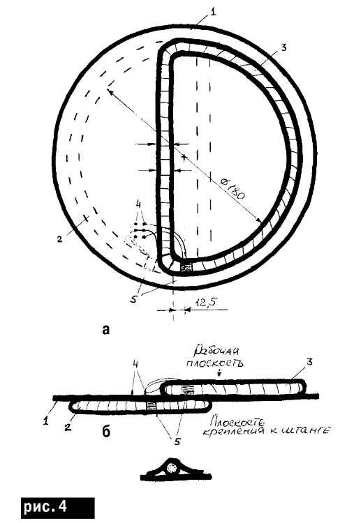 Конструкция поисковой катушки самодельного локационного металлоискателя