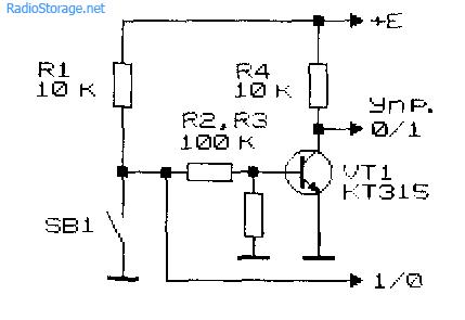 Схема для получения управляющего сигнала, выполненная на транзисторе