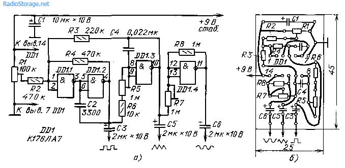 Функциональный генератор импульсов (176ЛА7)
