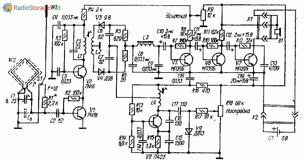 Транзисторный приемник лисолова на 3,5 МГц