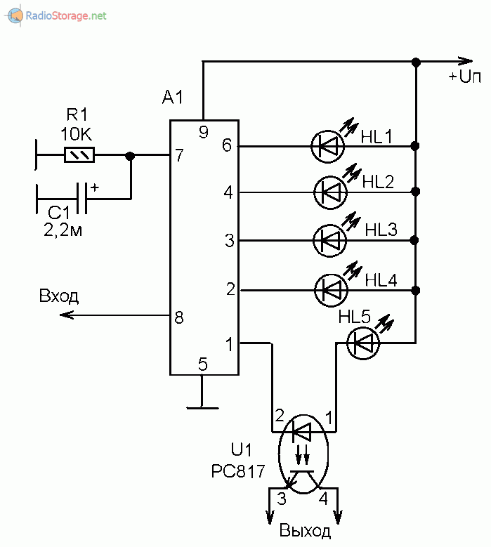Подключение с опто-развязкой