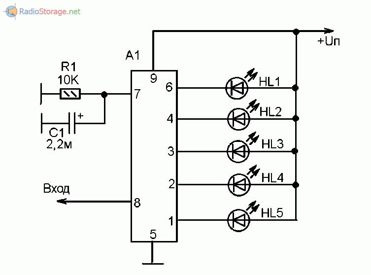 Типовая схема включения микросхем AN6884, КА2284, ВА6124