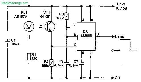 Световые датчики и сигнализаторы на LM555
