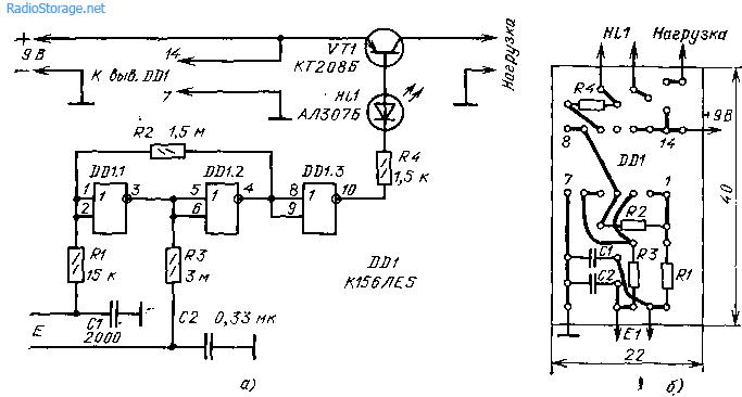 Сенсорный выключатель (К156ЛЕ5)