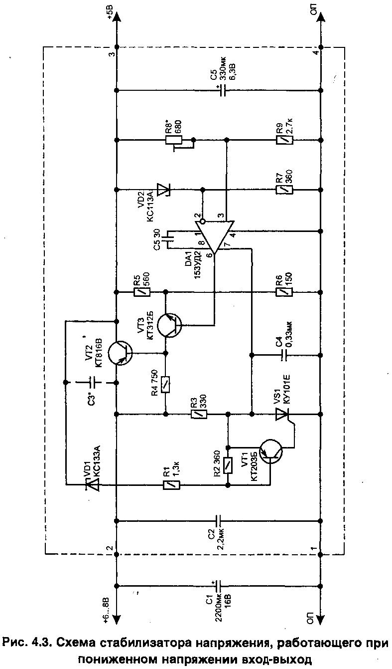 Линейные стабилизаторы напряжения с высоким КПД