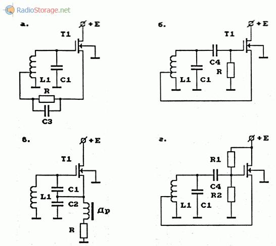Примеры схем задающих генераторов на полевых транзисторах с изолированными затворами