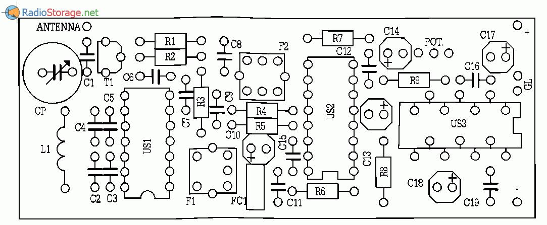 УКВ радиоприемник на микросхемах UL1042, UL1219, UL1482, схема