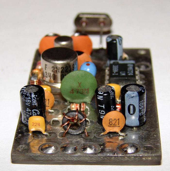 Фото собранной платы QRP трансивера Pixie-2