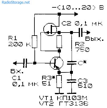 Каскадные усилители на транзисторах