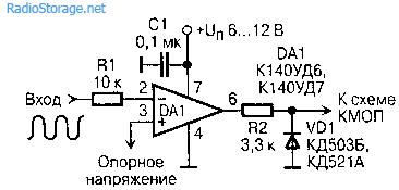 Переходник для КМОП-схем (преобразователь уровня)