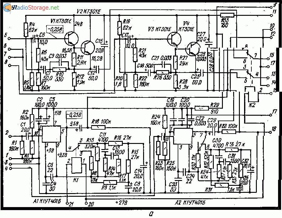 Усилитель Ростов-Дон 101 стерео, схема