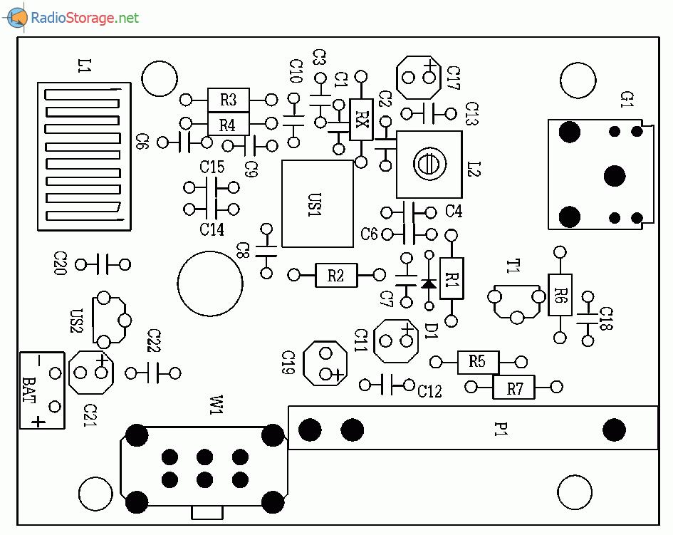 Простой УКВ приемник 88-108 МГц на микросхеме TDA7020 (TDA7021), схема