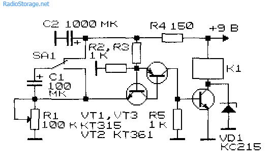 Принципиальная схема реле времени на транзисторах