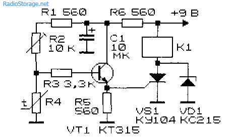 Релейные схемы (температура, звук, свет, влажность)