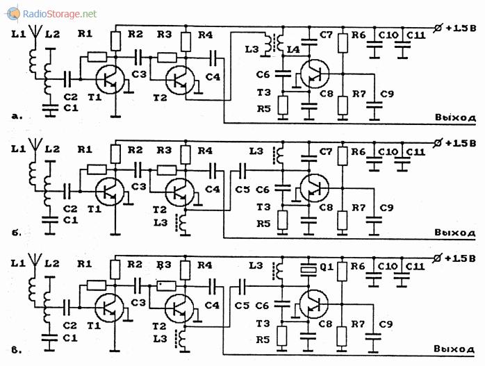 Схемы УКВ-ЧМ-конвертеров на биполярных транзисторах (65-73МГц в 95.8-103МГц)