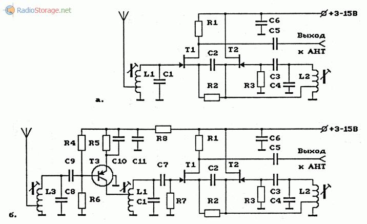 Схемы УКВ-ЧМ-конвертеров с использованием полевых транзисторов (65.8-73 МГц в 95.8-103 МГц)