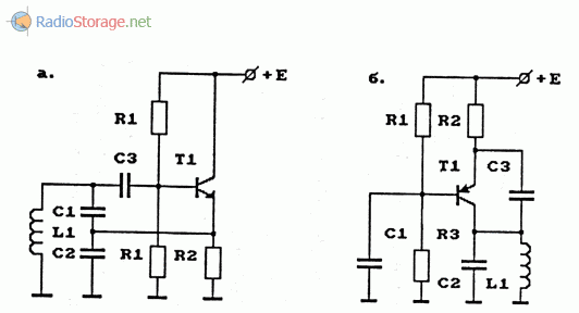 Примеры схем генераторов, используемых в гетеродинах конвертеров