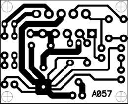 Печатная плата для мостового УНЧ на микросхеме TDA2005