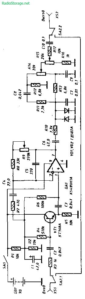 Схема дисторшн приставки для электрогитары