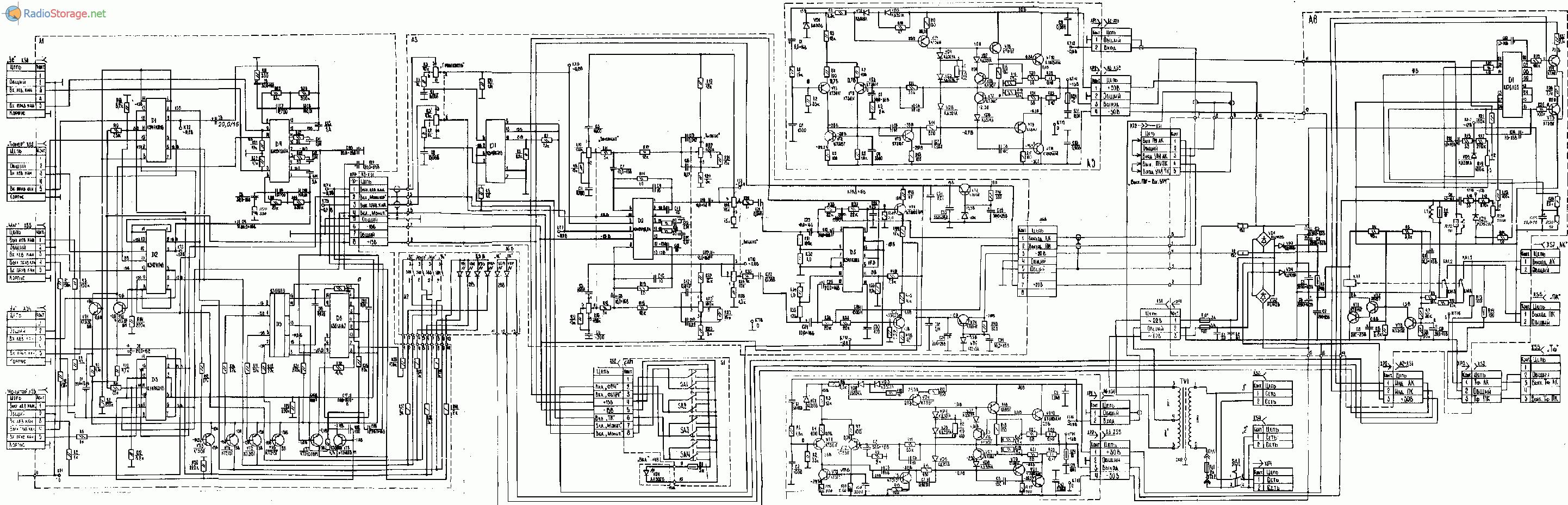 Усилитель Электроника УК-043 стерео, схема