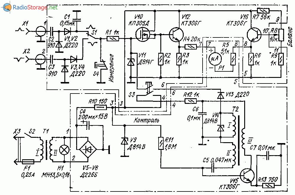 Импульсный вольтметр для измерения амплитуды импульсов
