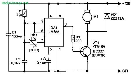 Простые термостабилизаторы на LM555