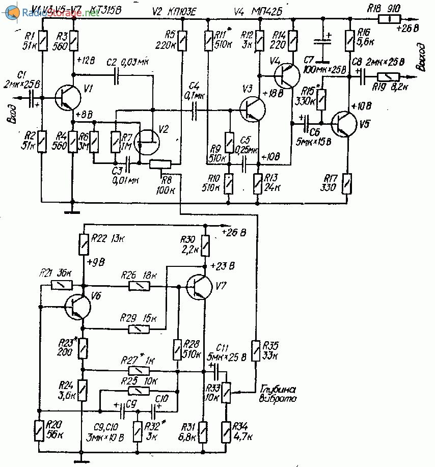 Приставка для фазового вибрато