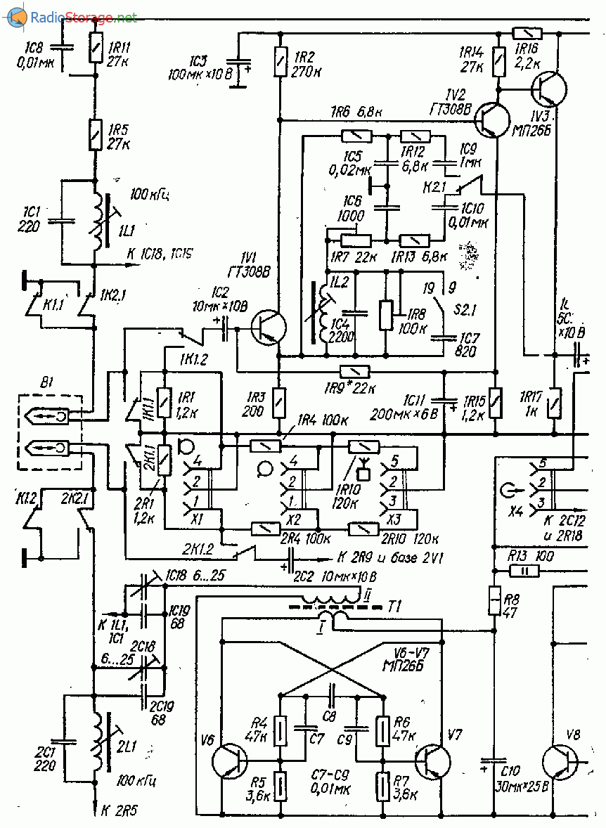 Катушечный магнитофон-приставка на транзисторах