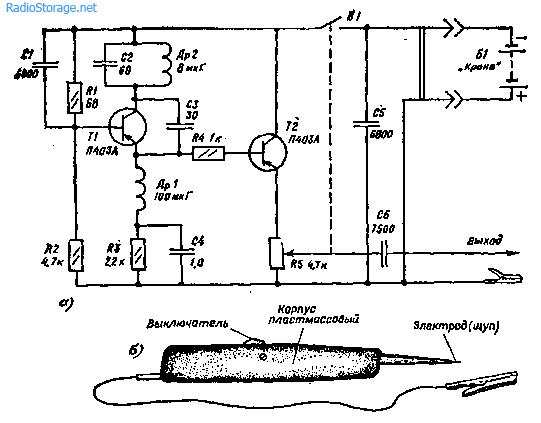 Схемы простых генераторов-пробников, щупы-генераторы