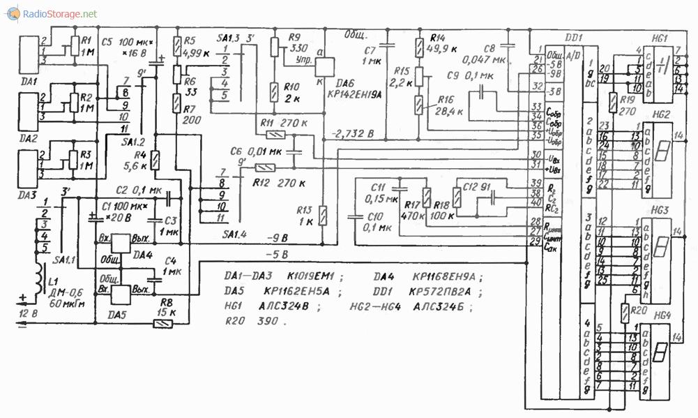 Схема цифрового индикатора напряжения фото 712