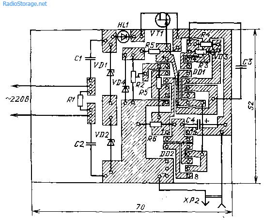 Автоматическое зарядное устройство на микросхеме К561ЛЕ5