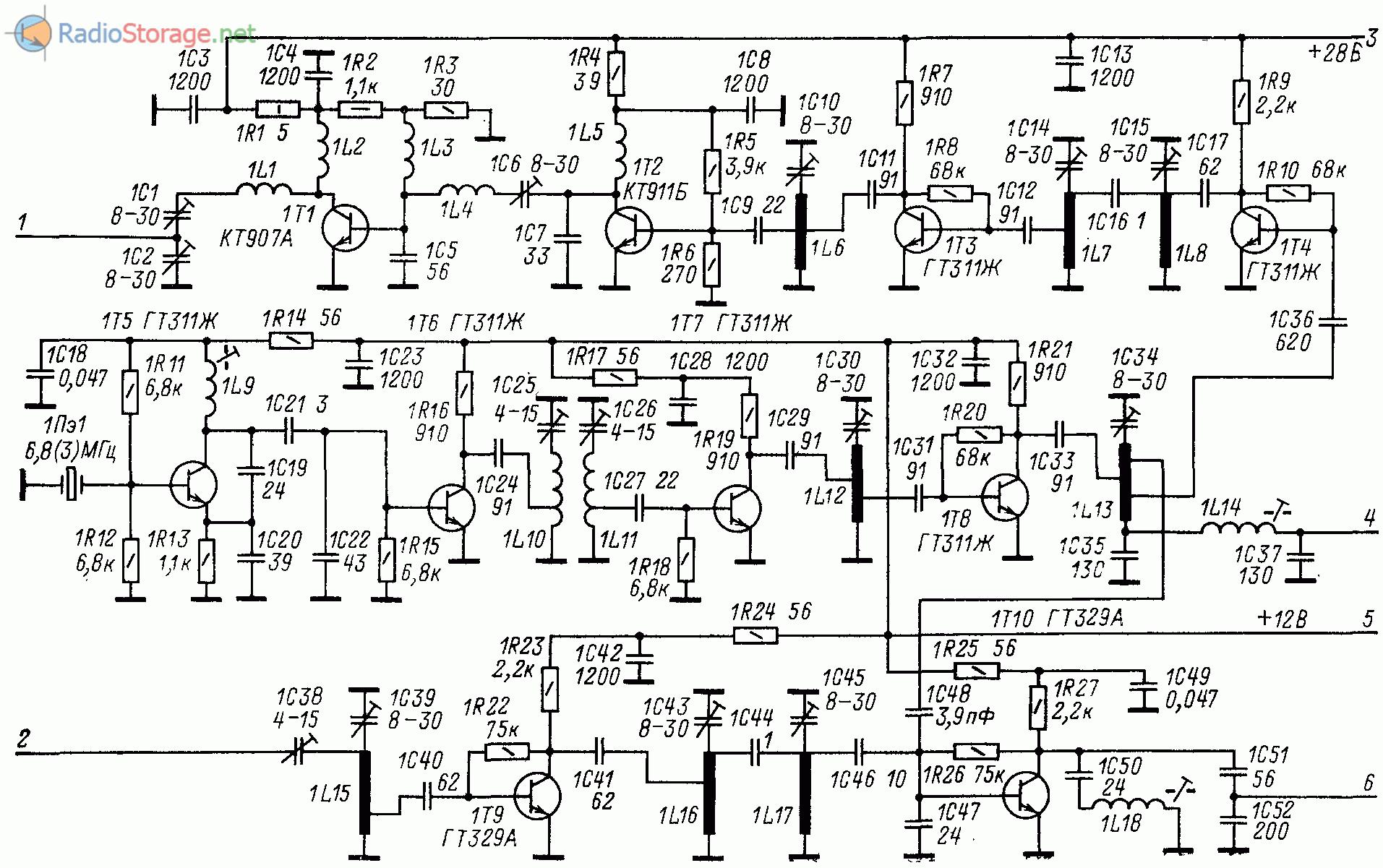 Принципиальная схема трансвертера 144/21 МГц
