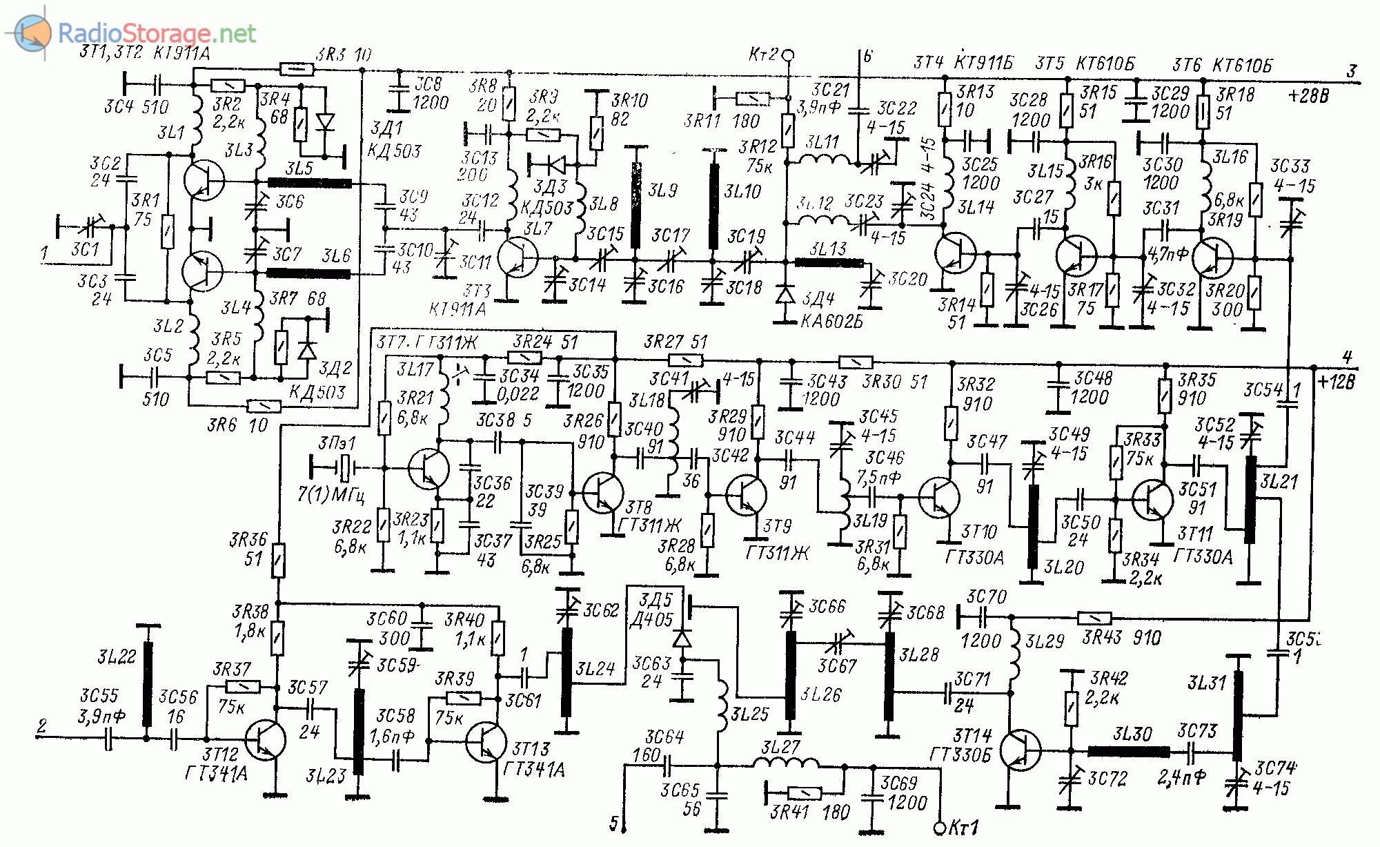 Принципиальная схема УКВ трансвертера 1296/144 МГц
