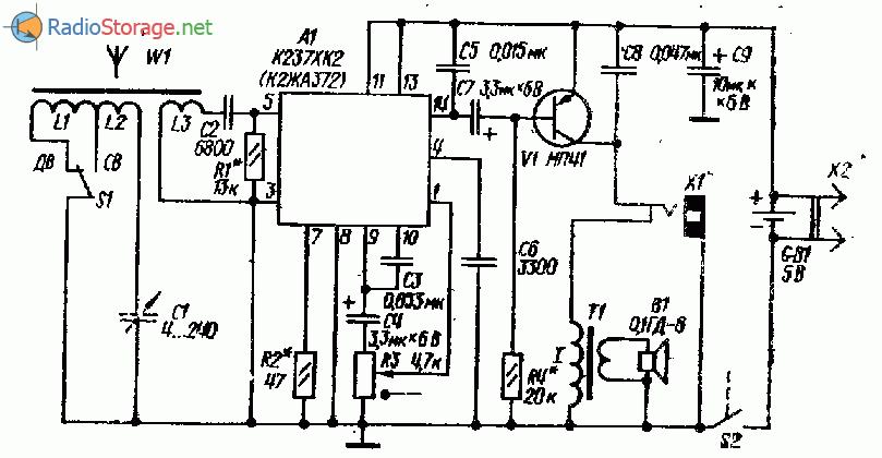 Приемник СВ-ДВ диапазона на микросхеме К237ХК2