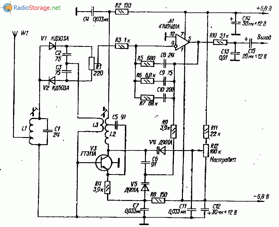 УКВ приемник прямого преобразования на ГТ311, К140УД1А
