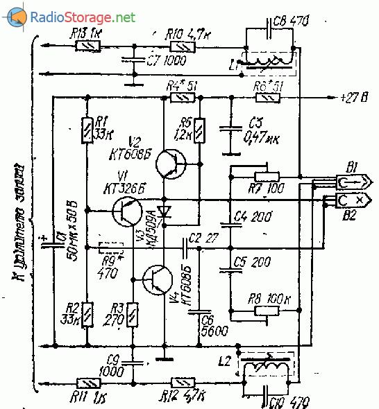 Генератор тока стирания и подмагничивания на транзисторах