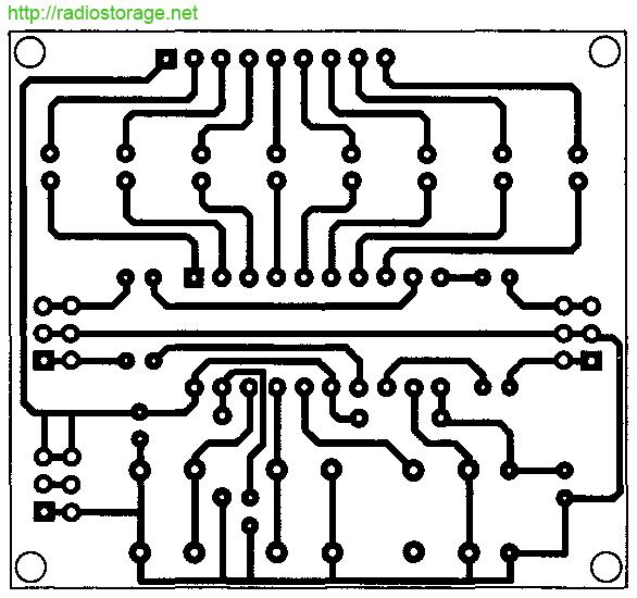 Изображение печатной платы для схемы регулятора громкости на микросхеме LC7530