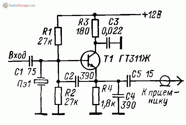 Схема приставки к КВ приемнику для настройки гетеродинов трансвертеров