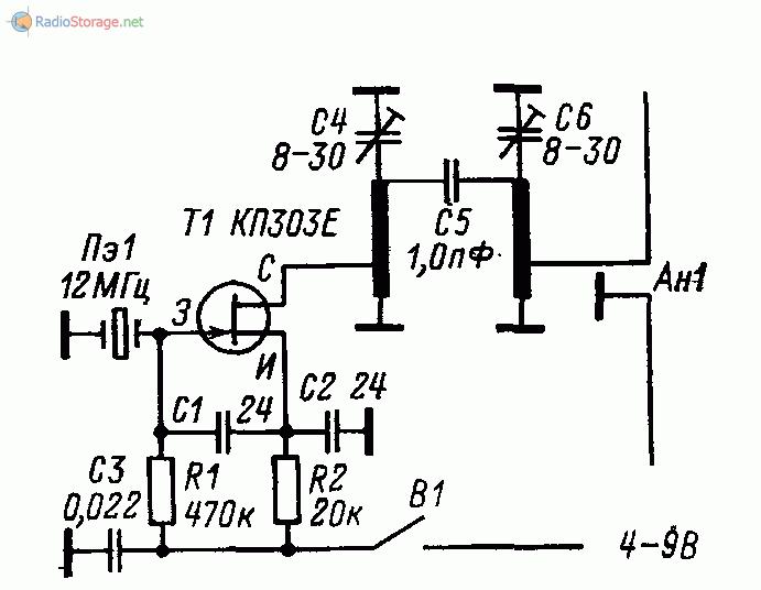 Схема контрольного маячка диапазона 144 МГц
