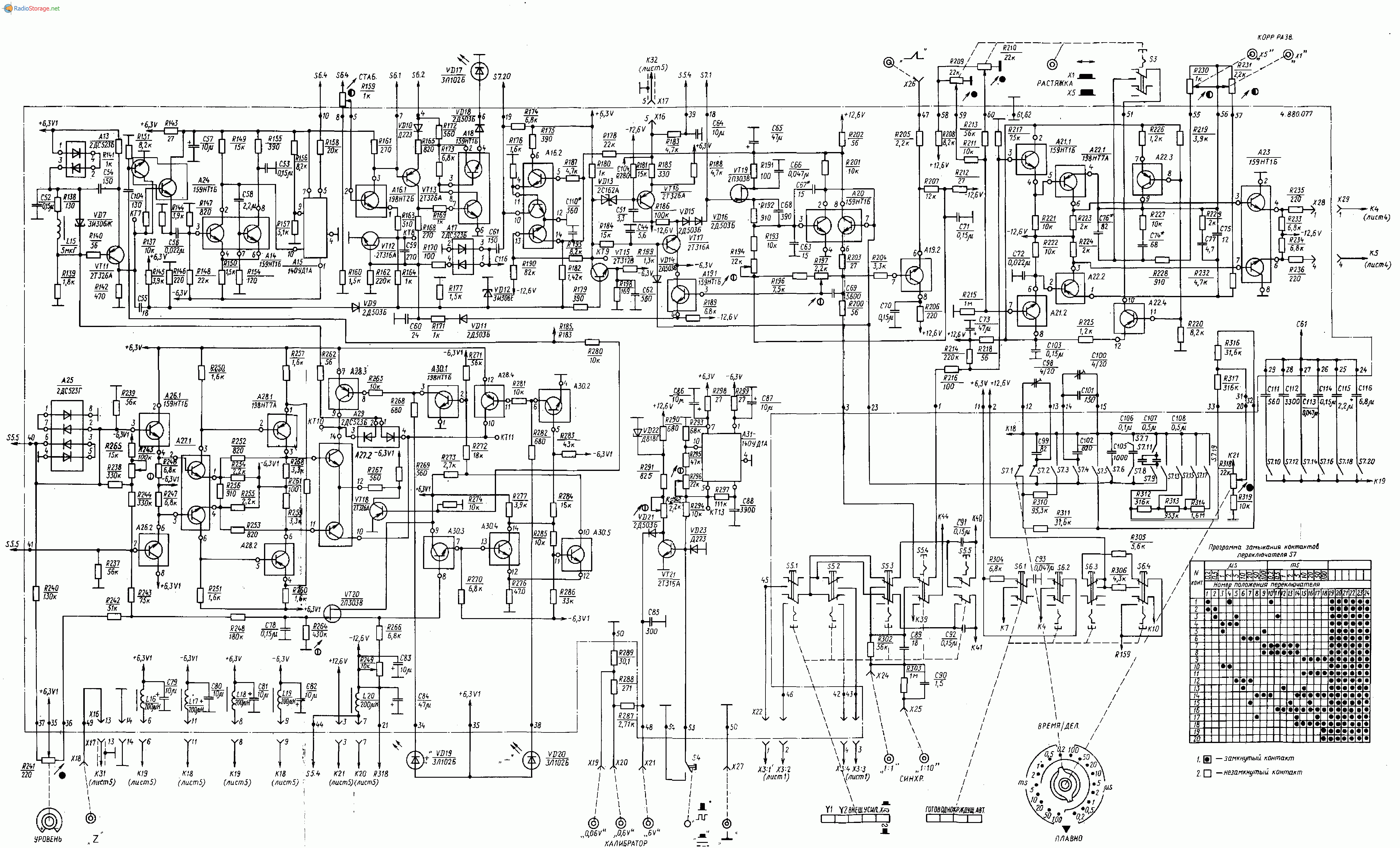 Осциллограф С1-96, схема