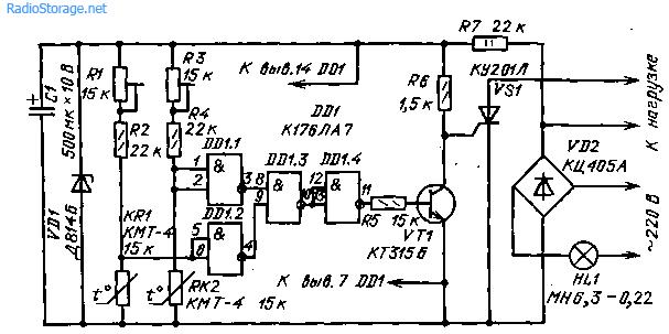 Термостабилизатор (176ЛА7, КУ201Л)