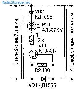 Индикаторы для параллельного телефона