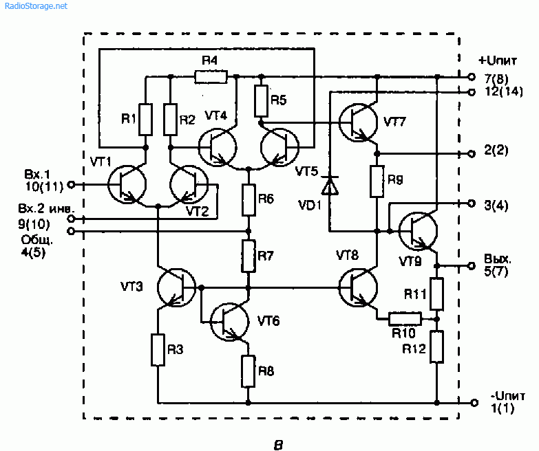 Схема электромузыкального инструмента (К140УД1Б)