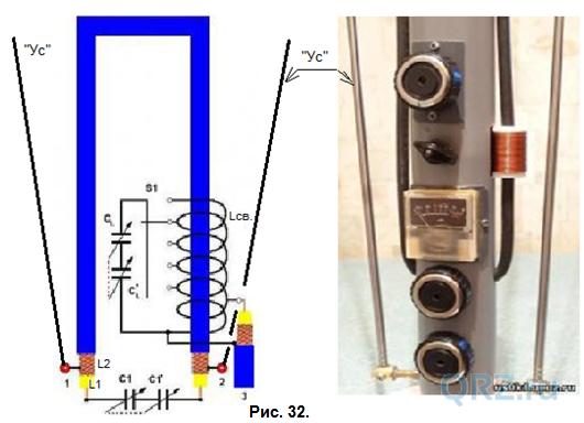 Магнитная рамочные антенна кв 136